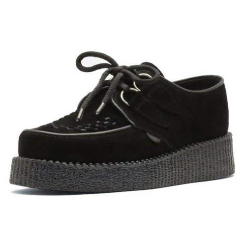 Underground - Creeper rockabilly in camoscio donna - nero - 41