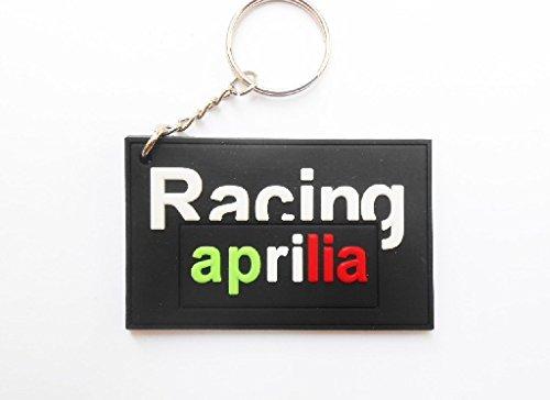 Keychains Schlüsselanhänger-Aprilia-Black-MotoGP-Motocross-MS055-Motorbike-Key Ring-Rubber Keyring-Tür Schlüssel