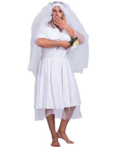 Erwachsene Männliche Kostüm Lustige Für - JANDZ Karneval Kostüme. Lustiges Partykleid. Erwachsenen männlichen Hochzeitskleid. Brautkostüm für Männer.