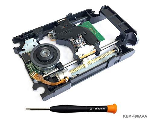 PS4 Blu-Ray Laser mit Schiene KEM-496AAA - Ersatz Laufwerk DVD Laser Lens Rahmen/Schlitten / Deck und KES-496 Optical Head für PS4 Slim CUH-20xx and PS4 Pro CUH-70xx, Torx T8 Security Schraubendreher -
