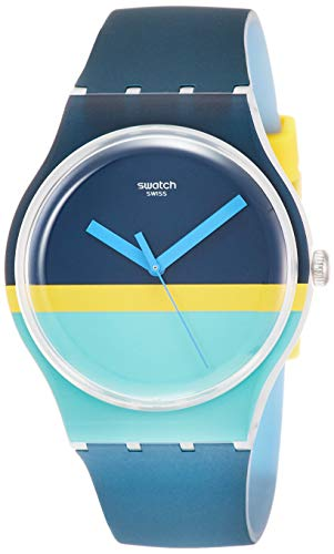Swatch Reloj Analógico para Hombre de Cuarzo con Correa en Silicona SUOW154
