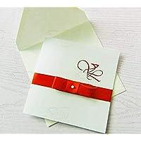 """Partecipazione matrimonio con busta e stampa personalizzata compresa SET da 10 pezzi mod.""""classic"""""""