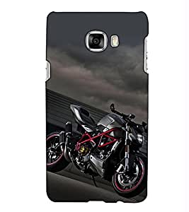 Fuson Designer Back Case Cover for Samsung Galaxy C5 SM-C5000 (Sports Bike theme)