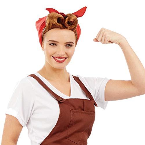 1940 Land Girl Kostüm - Fun Shack FNX4437 Kostüm, Womens, Land Girl Wig, Einheitsgröße