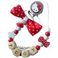 Cadena de chupete Hello Kitty | nombre adaptable