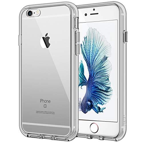 JETech Hülle für Apple iPhone 6s Plus iPhone 6 Plus, Schutzhülle mit Anti-kratzt Transparente und Rückseite, Grau - Iphone Telefonieren Plus 6