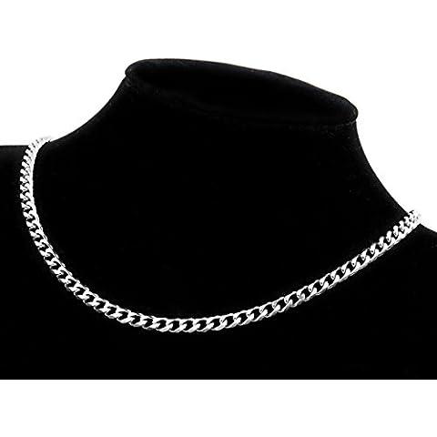 Skyllc® 5 mm de acero inoxidable collar de las mujeres de los hombres del encintado de Eslabones