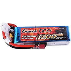 Gens Ace B-25C-2200-3S1P 11.1V 2200mAh LiPo Battery 25C 3S for Hobbies RC Toys RC Car RC Helicopters RC Plane RC Boat RC Truck