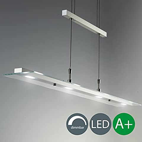 LED Pendelleuchte Dimmbar Stufenlos Höhenverstellbar Leuchte Inkl. LED-Platine 230V IP20 Hängelampe Deckenleuchte LED Wohnzimmerlampe Deckenstrahler (Illuminazione interna)
