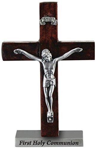 Kathedrale Art Kommunion swc201stehend Holz Kreuz mit Kruzifix, 4-Zoll