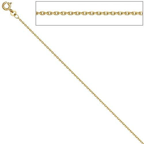 Prins jewels Chaîne à maille ancre ronde en or jaune 750 18carats Largeur 0,9mm Différentes tailles disponibles