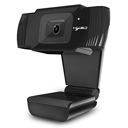 Fulltime E-Gadget Kamera, HD Webcam-Autofokus-Webkamera 5M Megapixel 1080P mit Mikrofon für Computer PC (Schwarz)