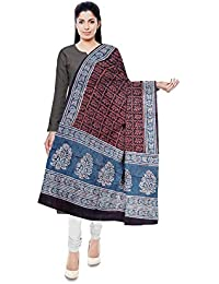 NEEL BATIK - THE BLOCK PRINTS Women's Malmal Cotton Stole (Multi-Coloured) - B078M26H3G