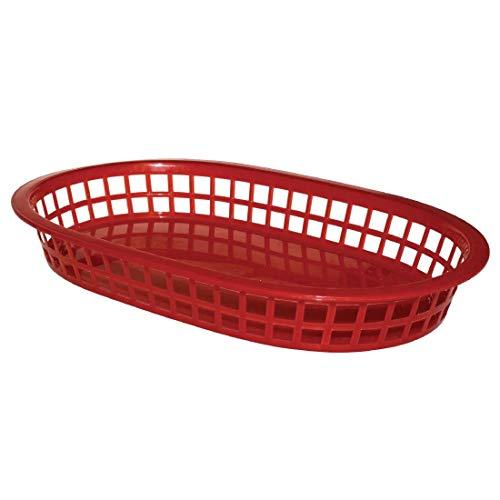 Paniere alimentaire ovale en polypropylene Olympia rouge