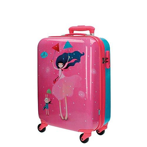 Gorjuss Under My Umbrella Equipaje de Mano, 33 Litros, Color Rosa