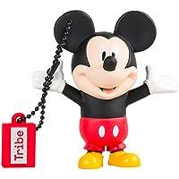 Tribe Disney Mickey Mouse USB Stick 16GB Pen Drive USB Memory Stick Flash Drive, Gift Idea 3D Figure, PVC USB Gadget with Keyholder Key Ring – Multicolor