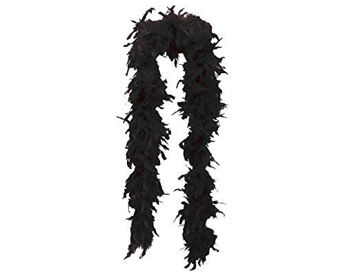 My Other Me Me-201802 Boas Boa marabú para mujer, Color negro, 180 cm (Viving Costumes 201802