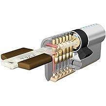 Tesa - Cilindro seguridad TK100 30x40 mm, latonado