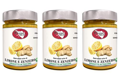 Marmellata extra di Limone e zenzero Qualità Artigianale 3x320g Cucina Toscana