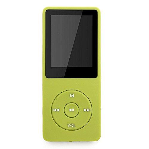 """Tabmart M01 IL lettore MP3 8 GB schermo 1,8"""" con Radio e registratore, Il tempo di riproduzione è fino a 70 ore, Verde"""