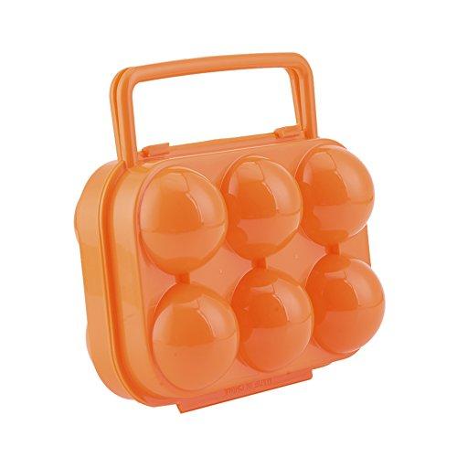aihometm tragbar Eier Halter 6Eier Container Ei Schutz Box für Camping Picknick outdoor Aktivitäten