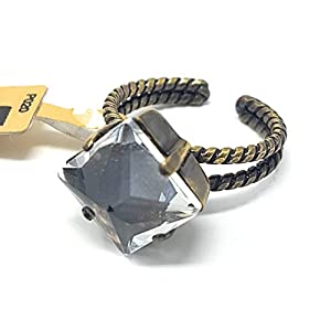 KONPLOTT Iceberg De Luxe Damen-Ring, Ringgröße verstellbar, Glas beige -5450543244310