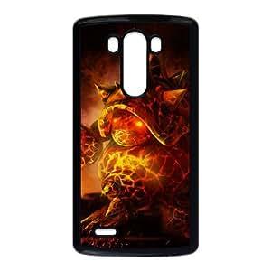 League Of Legends Molten Rammus Coque LG G3 Coque cas de téléphone cellulaire noir F8W3WM Phone Case Back DIY