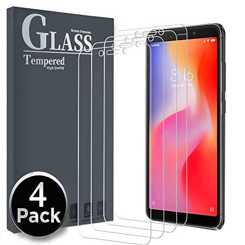 Ferilinso für Xiaomi Redmi 6/Redmi 6A Panzerglas Schutzfolie, [4 Pack] Gehärtetes Glas Bildschirmschutzfolie mit Lebenszeit Ersatzgarantie für Xiaomi Redmi 6/Redmi 6A (Transparent)