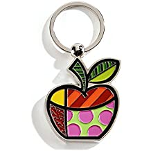 ROMERO BRITTO Schlüsselring Apfelform Emoji Smiley Apfel - Pop Art Kunst aus Miami #334395