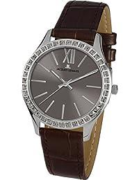 Jacques Lemans Damen-Armbanduhr Rome Analog Quarz Leder 1-1841L