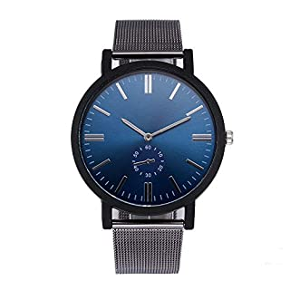 Men's Women's Unisex Watch Ultra Thin Minimalist Waterproof Fashion Wrist Watches with Magnetic Stainless Steel Mesh Band Dress Casual Luxury Quartz Watch for Man Woman