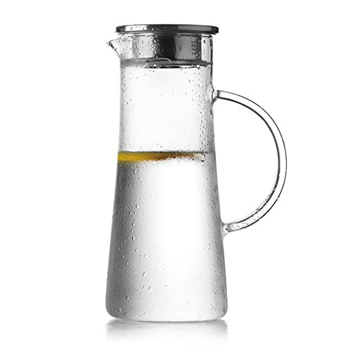 asentechuk® 1.5L transparente vidrio resistente al calor botella de a