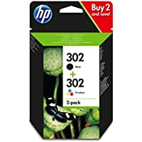 HP 302X4D37AE - Juego de 2 cartuchos de tinta, negro y tricolor