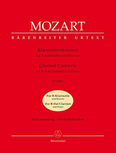 Klarinettenkonzert KV 622. Konzert in A für Klarinette und Orchester. Klavierauszug