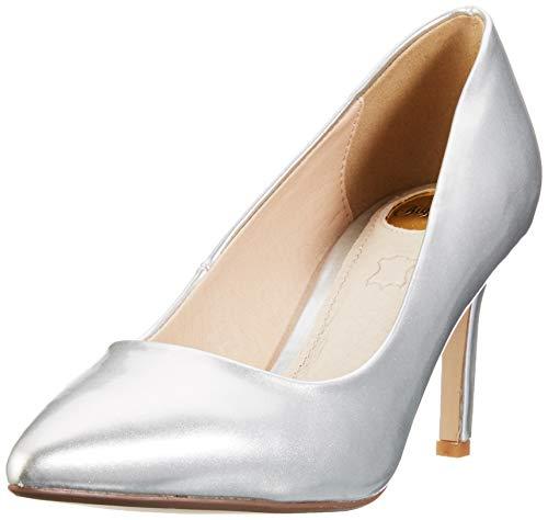 Buffalo Alivia, Zapatos Tacón Mujer, Gris Silver