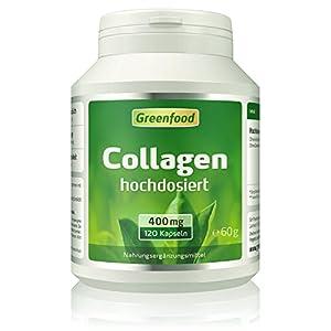 Collagen, 400 mg, hochdosiert, Kapseln – natürliches Collagenhydrolysat. OHNE künstliche Zusätze, ohne Gentechnik.
