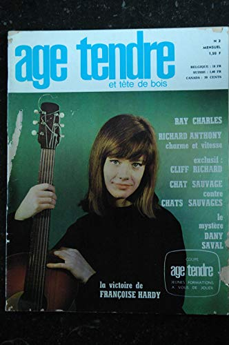 age tendre et tête de bois n° 2 * 1963 * COVER Françoise Hardy Ray Charles Richard Anthony Cliff Richard Chats Sauvages