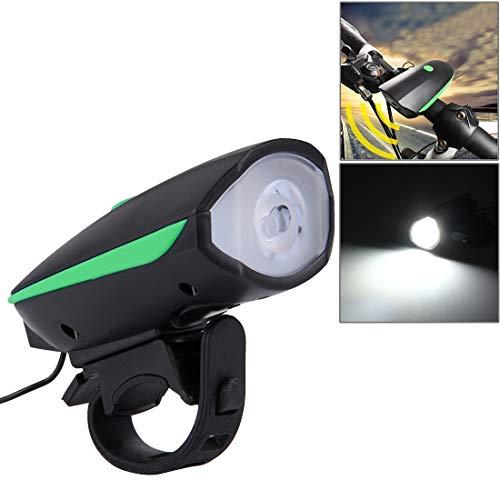 Lanbinxiang@ Éblouissement Rechargeable par USB de 125 / 250LM 3 Modes LED avec Le Haut-Parleur et la poignée, Taille: 9.5 * 5 * 3.5cm sécurité (Couleur : Vert)