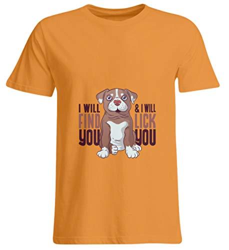 Hunde WELPEN T-Shirt Hund Dog Geschenk - Surdimensionnés Unisexe -5XL-orange -