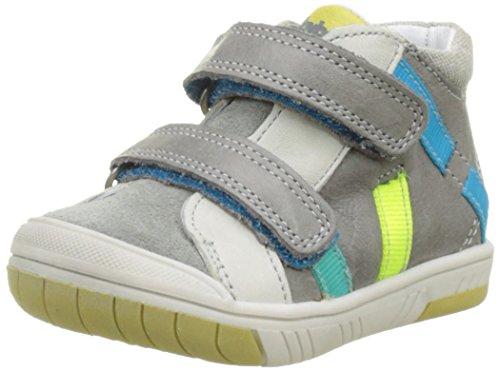 BabybotteArtiboum - Pantofole a Stivaletto Bambino , grigio (Gris (Gris/Anis)), 25 EU
