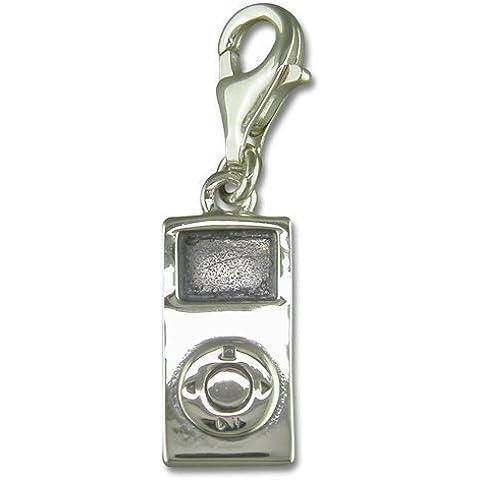 Plata de ley de iPod MP3 Clip en encanto para Thomas Sabo estilo de la pulsera del encanto