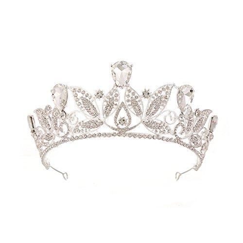 MYYQ Braut-Europa und Amerika Retro-Krone Strass große Krone Brautkleid Zubehör Zubehör