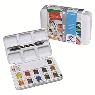 Van Gogh Watercolour Pocket Box - 12 Pan - Art Supplies