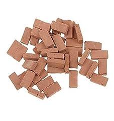 Idea Regalo - Hobby e blu 500 mattoncini in Terracotta per diorami e pavimentazioni presepi Misure Miste da mm 14x7x4 a mm 8x7x4