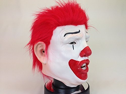 Mcdonald Kostüm Ronald Clown - Rubber Johnnies Mask & Toy Co. Donald Ronald Trump Clown Maske Deluxe mit ECHTE ROT Haare Latex Überkopf USA Politiker Kostüm Masken