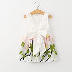 Girls Floral Dress, Transer® Baby Girls Princess Party Pageant Tutu Dress 2-8 Years Kids Clothes Toddlers Sleeveless Big Bowknot Flower Dresses