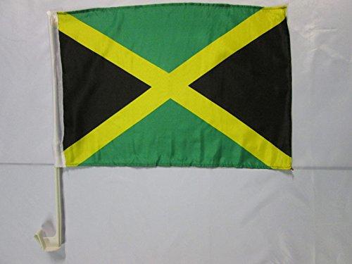 AZ FLAG Bandiera per Auto Giamaica 45x30cm - BANDIERINA da Auto GIAMAICANA 30 x 45 cm