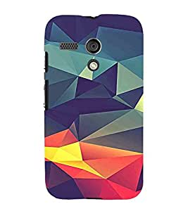 For Motorola Moto G :: Motorola Moto G (1st Gen) :: Motorola Moto G Dual 3D pattern, Multicolor, Lovely Pattern, Fantastic Pattern, Printed Designer Back Case Cover By CHAPLOOS