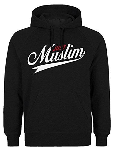 Just MUSLIM HOODIE - ISLAM HOODIE SLAMISCHE STREETWEAR KAPUZENPULLI KAPUZENPULLOVER KLEIDUNG FÜR MUSLIME BEDRUCK OUTDOOR ISLAM FASHION (S, Schwarz)