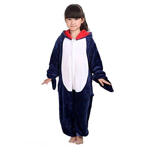 ABYED® Einhorn Kostüm Jumpsuit Onesie Tier Fasching Karneval Halloween kostüm Damen mädchen Herren Kinder Unisex Cosplay Schlafanzug, Hai, Größe 85 - für Höhe 95-105 cm (3-4 Jahre)
